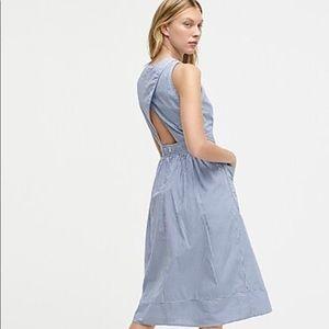 J Crew cotton poplin dress in stripe size 4 NWT